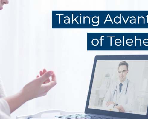 featured image titled taking advantage of telehealth