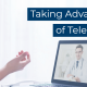 featured image titled taking advantage of telehealth