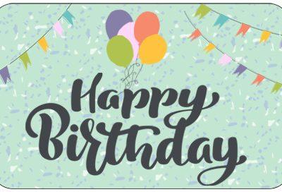 Pre-Paid Health Card - Happy Birthday Theme