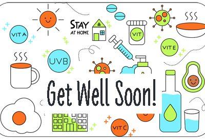Pre-Paid Health Card - Get Well Soon Theme