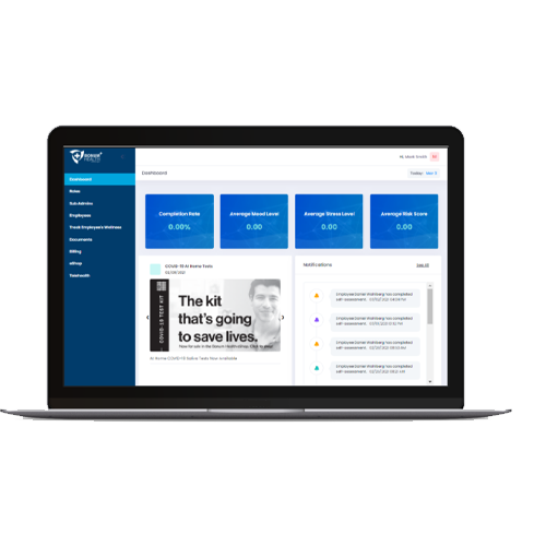 Bonum Health Plus COVID-19 Monitoring Tools - Employer Dashboard