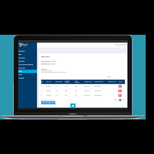 Bonum Health Plus COVID-19 Monitoring Tools - Desktop Billing Preview