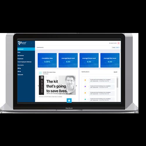 Bonum Health Plus COVID-19 Monitoring Tools - Desktop Dashboard Preview